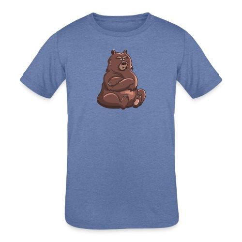 Bear in Contempt T-Shirt - Kids' Tri-Blend T-Shirt