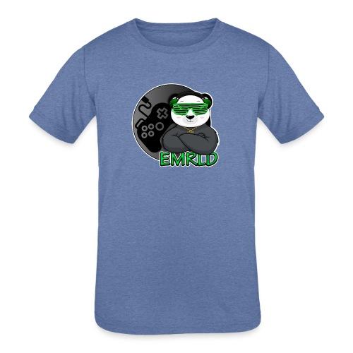 Emerald Logo - Kids' Tri-Blend T-Shirt