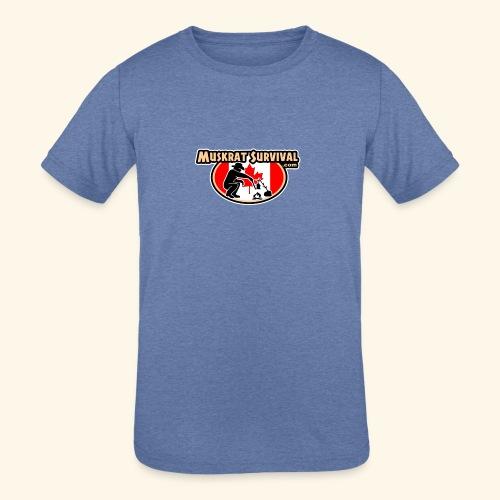 Muskrat Badge 2020 - Kids' Tri-Blend T-Shirt