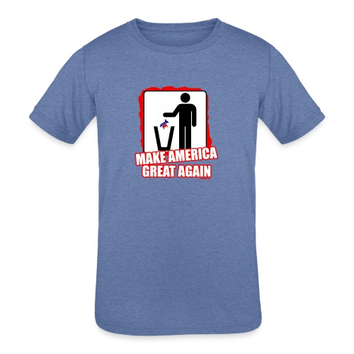 MAGA TRASH DEMS - Kids' Tri-Blend T-Shirt
