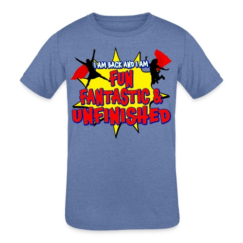 Unfinished girls jumping - Kids' Tri-Blend T-Shirt