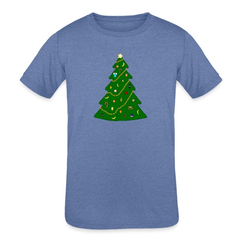 Christmas Tree For Monkey - Kids' Tri-Blend T-Shirt