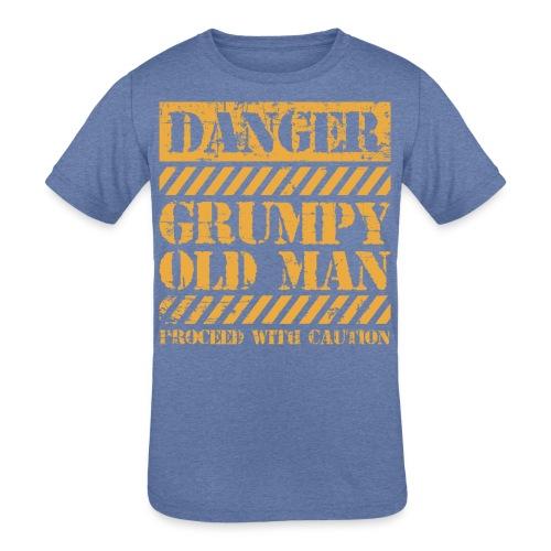Danger Grumpy Old Man Sarcastic Saying - Kids' Tri-Blend T-Shirt