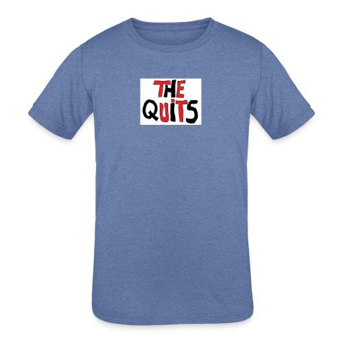 quits logo - Kids' Tri-Blend T-Shirt