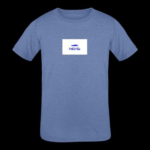 Blue 94th mile - Kids' Tri-Blend T-Shirt