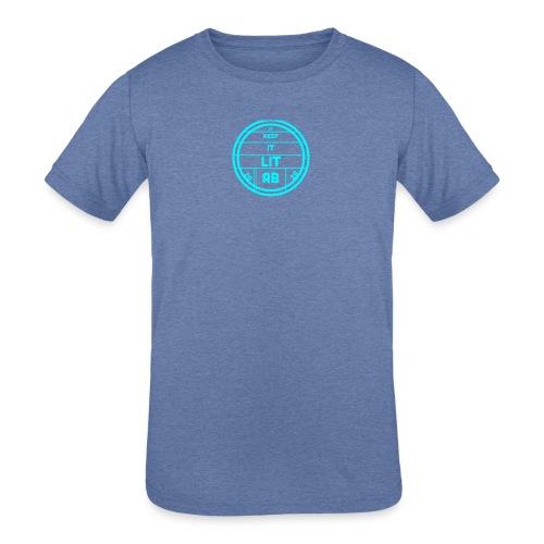 AB KEPP IT LIT 50 SUBS MERCH - Kids' Tri-Blend T-Shirt