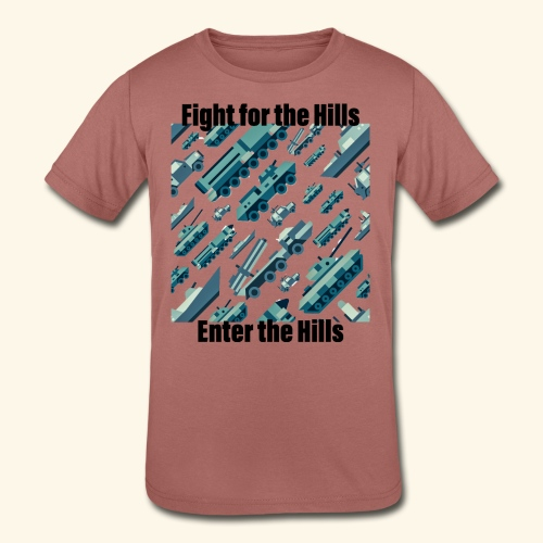Fight or Enter - Kids' Tri-Blend T-Shirt