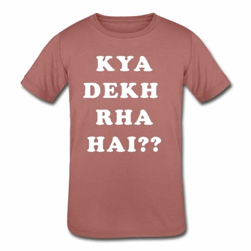 Kya Dekh Raha Hai - Kids' Tri-Blend T-Shirt