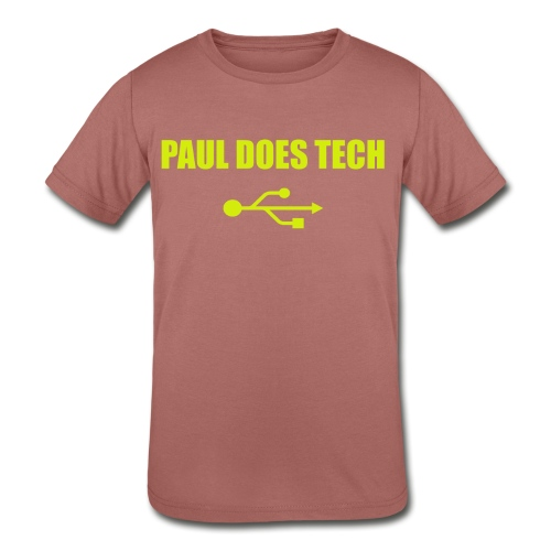 Paul Does Tech Yellow Logo With USB (MERCH) - Kids' Tri-Blend T-Shirt