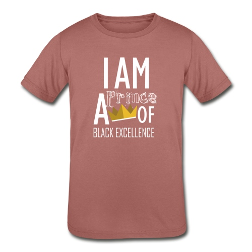 I AM A PRINCE OF BLACK EXCELLENCE - Kids' Tri-Blend T-Shirt