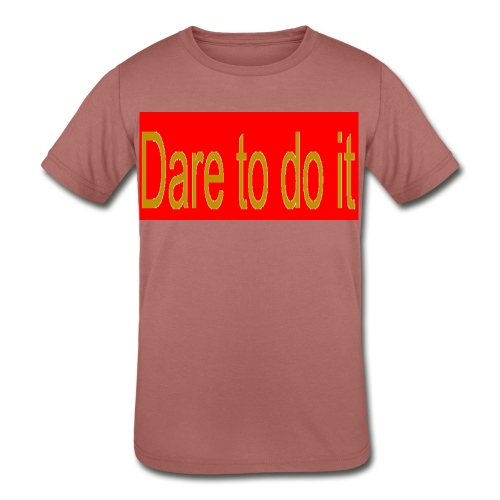 Dare to do it red - Kid's Tri-Blend T-Shirt