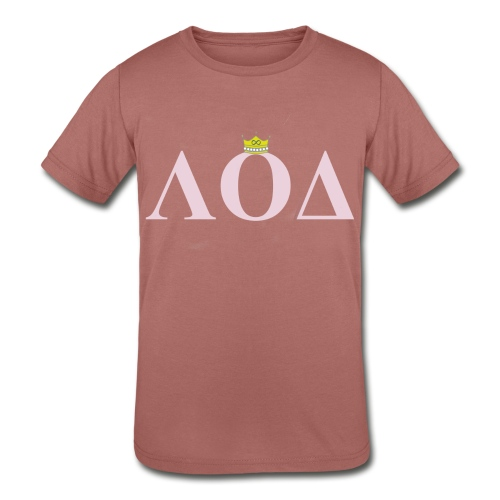 Crown Pink Letters - Kids' Tri-Blend T-Shirt