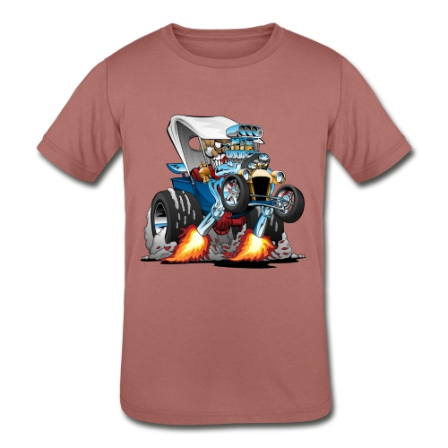 Custom T-bucket Roadster Hotrod Cartoon - Kids' Tri-Blend T-Shirt