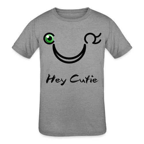 Hey Cutie Green Eye Wink - Kids' Tri-Blend T-Shirt