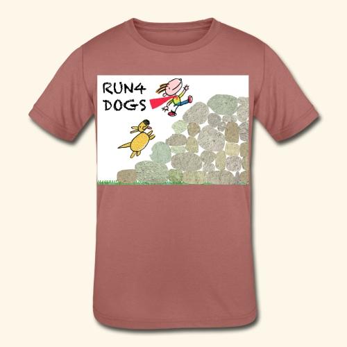Dog chasing kid - Kids' Tri-Blend T-Shirt