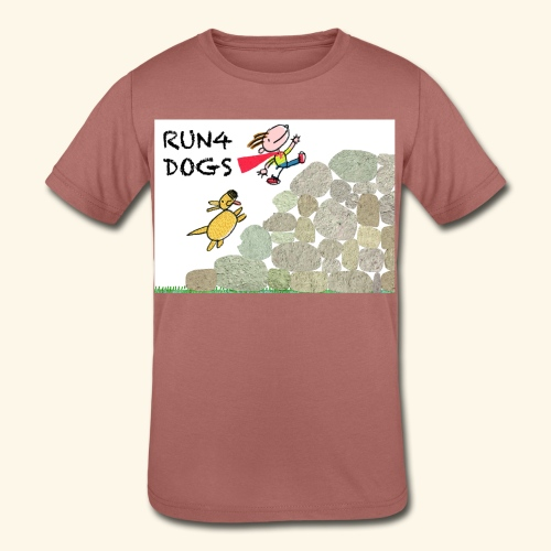 Dog chasing kid - Kids' Tri-Blend T-Shirt