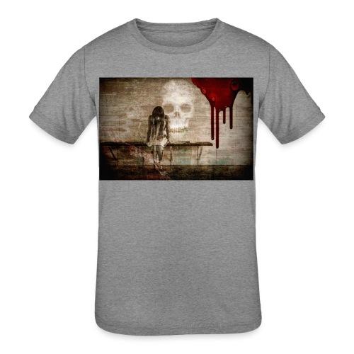 sad girl - Kids' Tri-Blend T-Shirt