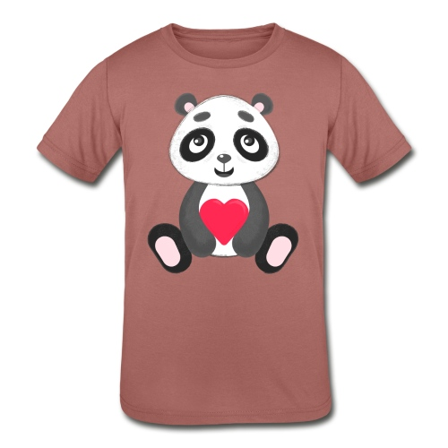 Sweetheart Panda - Kids' Tri-Blend T-Shirt