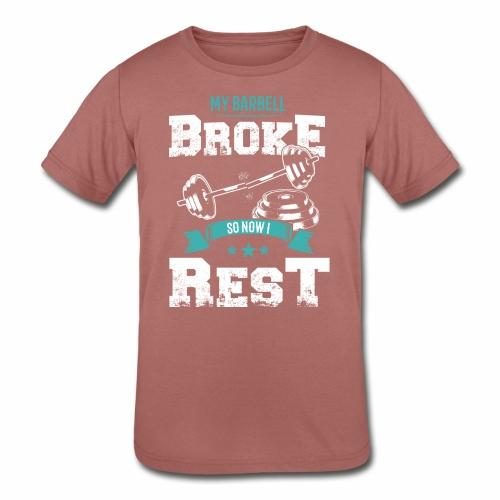 Workout Resting Time - Kids' Tri-Blend T-Shirt
