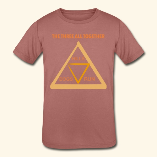 Run4Dogs Triangle - Kids' Tri-Blend T-Shirt