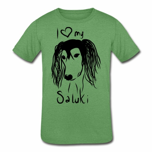 I love my saluki - Kids' Tri-Blend T-Shirt
