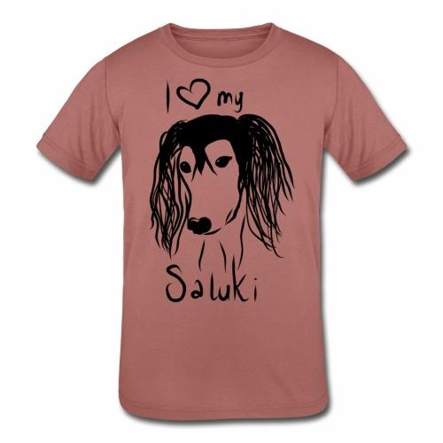 I love my saluki - Kids' Tri-Blend T-Shirt