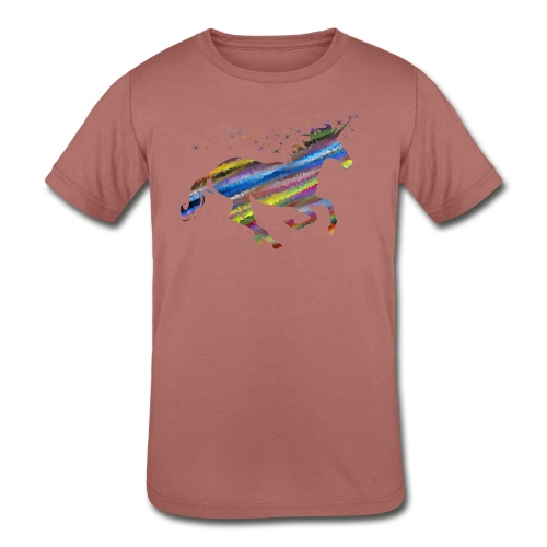The Majestic Prismatic Streaked Magical Unicorn - Kids' Tri-Blend T-Shirt