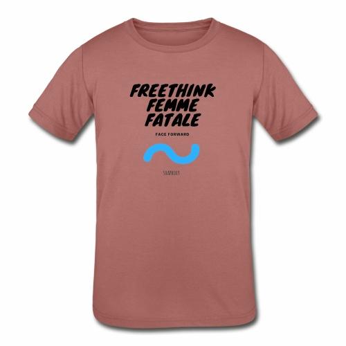 Freethink Femme Fatale - Kids' Tri-Blend T-Shirt