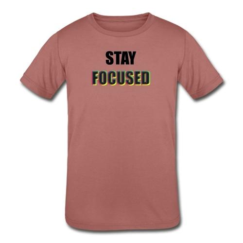 focused - Kids' Tri-Blend T-Shirt