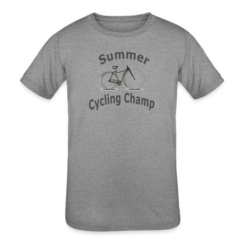 Summer Cycling Champ - Kids' Tri-Blend T-Shirt