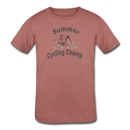 Summer Cycling Champ - Kids' Tri-Blend T-Shirt