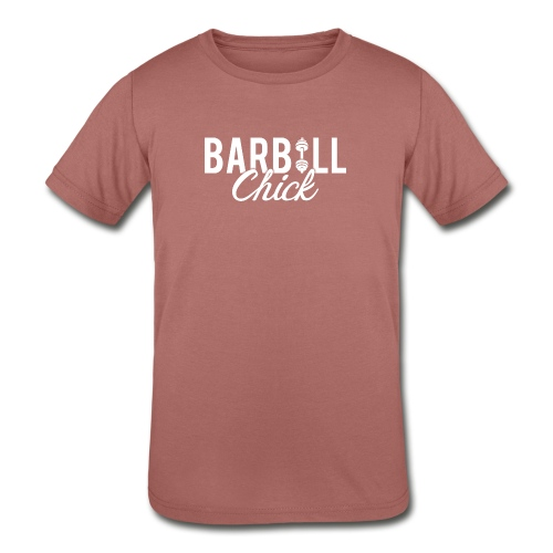 Barbell Fitness Chick - Kids' Tri-Blend T-Shirt