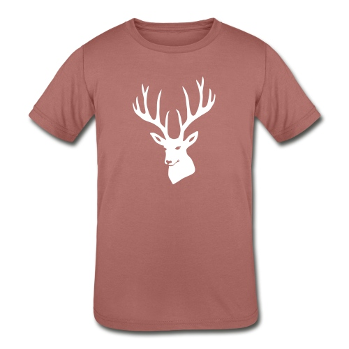 stag night deer buck antler hart cervine elk - Kids' Tri-Blend T-Shirt