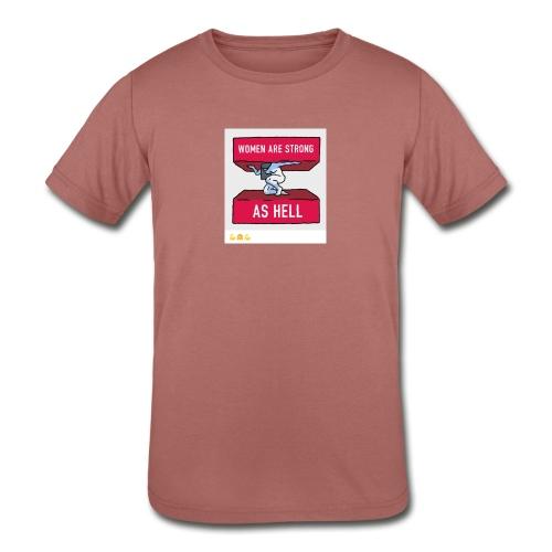women are strong as hell - Kids' Tri-Blend T-Shirt