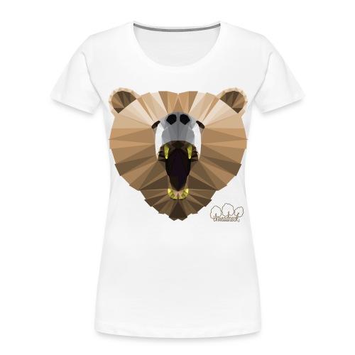 Hungry Bear Women's V-Neck T-Shirt - Women's Premium Organic T-Shirt