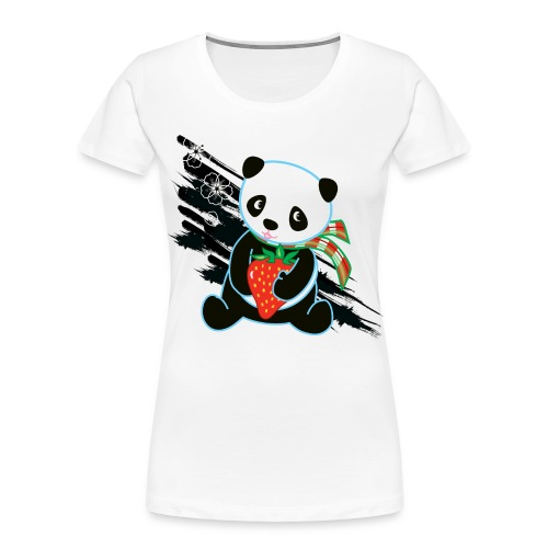 Cute Kawaii Panda T-shirt by Banzai Chicks - Women's Premium Organic T-Shirt