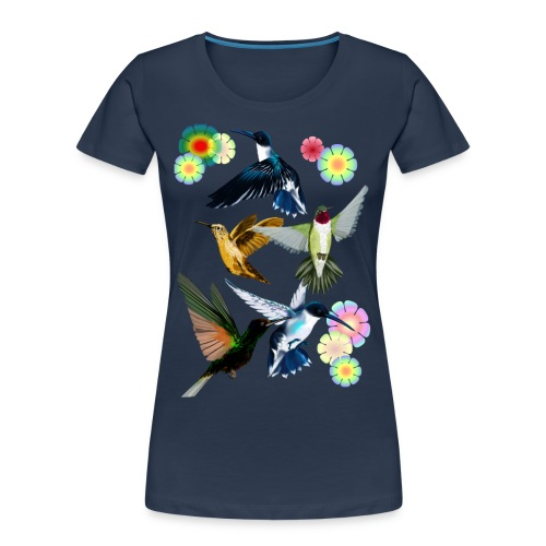 For The Love Of Hummingbirds - Women's Premium Organic T-Shirt