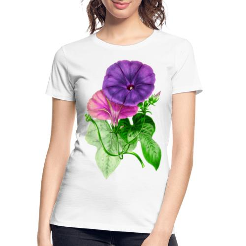 Vintage Mallow flower - Women's Premium Organic T-Shirt
