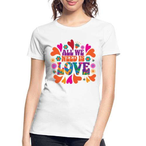 need love peace - Women's Premium Organic T-Shirt