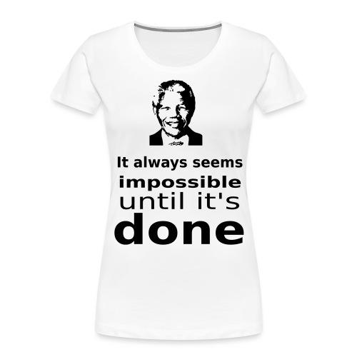Nelson Mandela Quotes - Women's Premium Organic T-Shirt