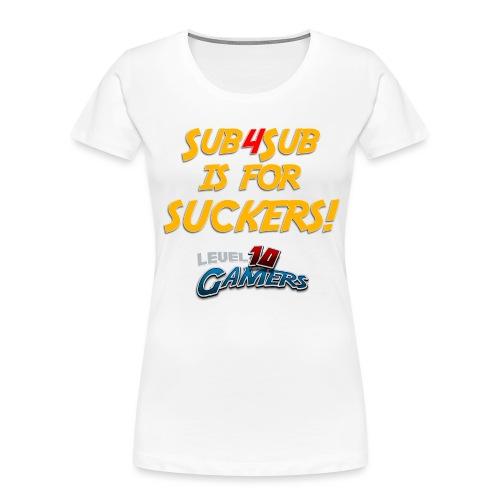 Anti Sub4Sub - Women's Premium Organic T-Shirt