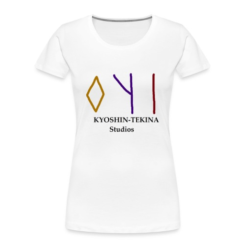Kyoshin-Tekina Studios logo (black test) - Women's Premium Organic T-Shirt