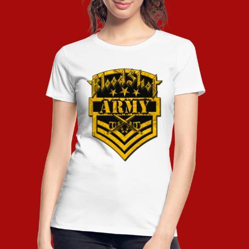 BloodShot ARMYLogo Gold /Black - Women's Premium Organic T-Shirt