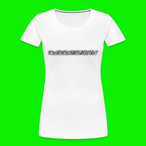 Warherolion plane text-gray - Women's Premium Organic T-Shirt