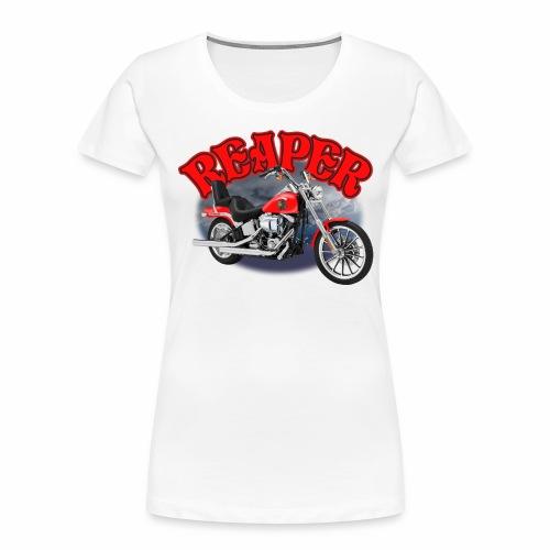 Motorcycle Reaper - Women's Premium Organic T-Shirt