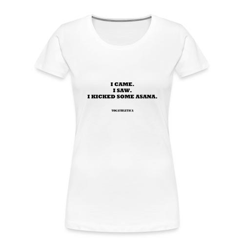 yoga kick asana - Women's Premium Organic T-Shirt