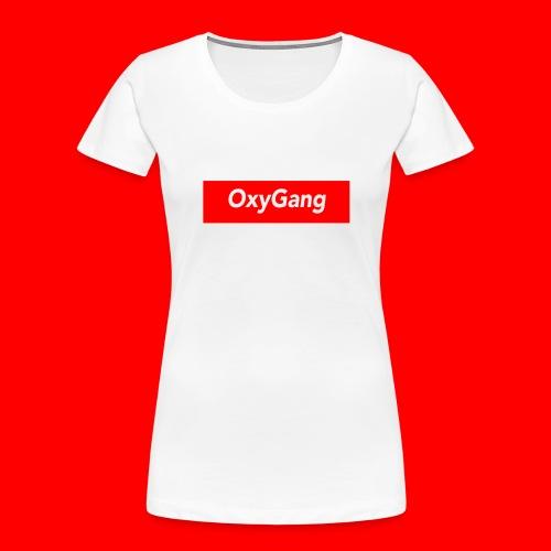 OxyGang: Red Box Products - Women's Premium Organic T-Shirt