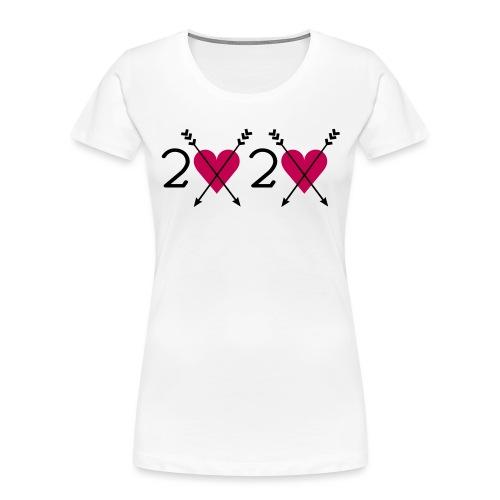 2020 heart - Women's Premium Organic T-Shirt