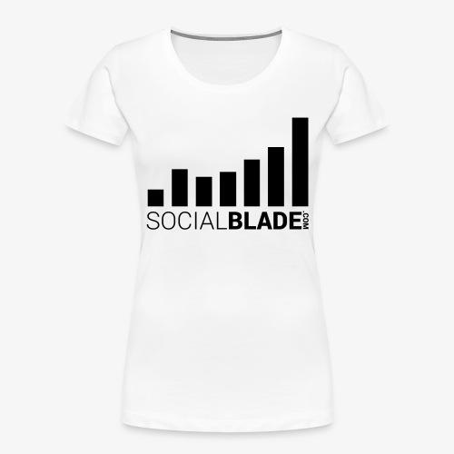 Socialblade (Dark) - Women's Premium Organic T-Shirt
