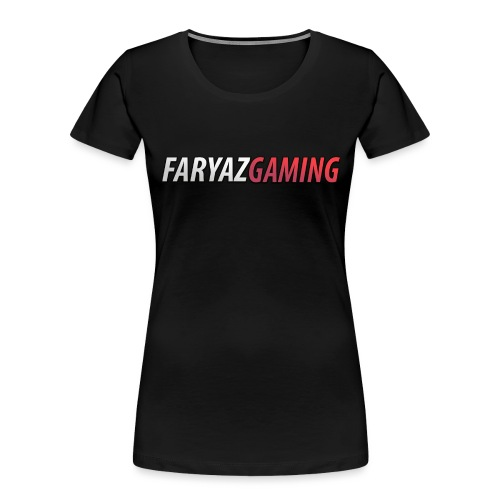 FaryazGaming Text - Women's Premium Organic T-Shirt